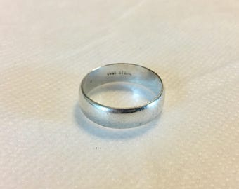 WM Rogers Sterling Silver Wedding Band Size 8 925 Mens Womens
