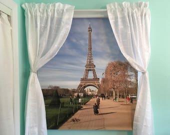 Springtime in Paris-Custom Print Roller Shades