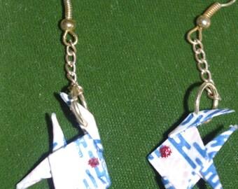"""""""Fish"""" - Gold hook earrings"""