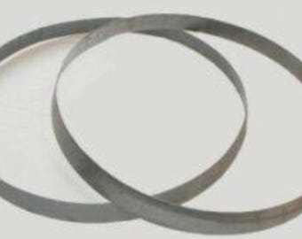 """Real Bourbon Barrel Metal Hoops -used. Great for Wedding displays and Home Projects. Large 24 1/2"""" across. 78"""" circumference."""