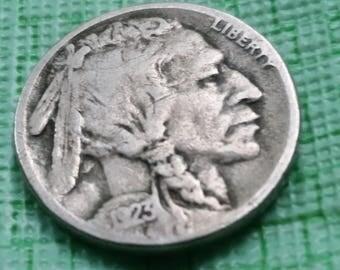 1923S Buffalo nickel fine details,  better date  #A506