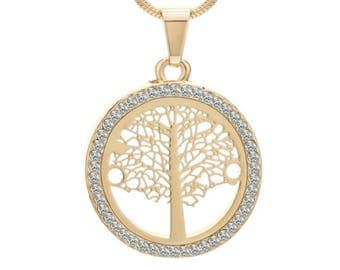 Free shipping Canada,Tree Of Life Pendant,Tree Of Life Necklace,Gold Tree of life Pendant,Family Tree necklace, Gold Necklace,Mothe'rs Day