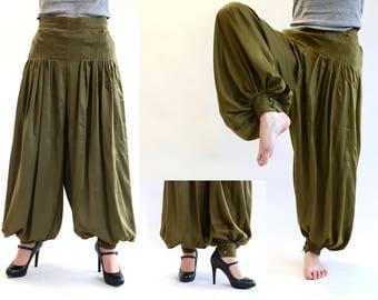 Harem Jessica, harem trousers olive