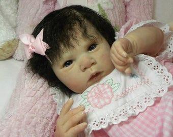 Reborn baby Gabriele ! Sweet little Girl ! 2 cute to pass !
