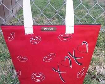 "Tote ""xoxo"" valentine bag"