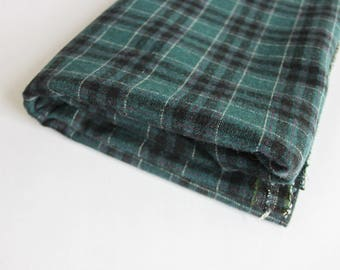 Green/ black check possibly wool mix