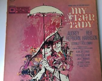 1964 My Fair Lady original soundtrack recording vinyl record LP Audrey Hepburn Rex Harrison Columbia Records Warner Brothers