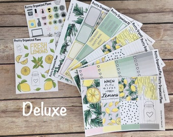 30% OFF! DELUXE KIT | Citrus & Herb | Weekly Sticker Kit for Erin Condren Vertical Layout | 8 Pages, 230+ Stickers