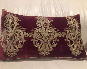 Luxury hand made decorative pillow