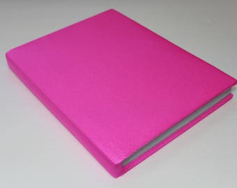 Neon Pink Booksock Bookcover Book Protector Stretchable Agenda Organizer School Supplies Back to School