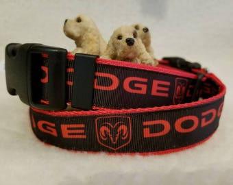 Automotive Handmade Dog Collar 1 Inch Wide Large & Medium