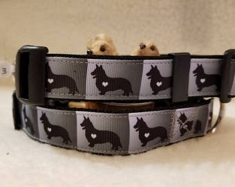 Corgi Handmade Dog Collar 1 Inch Wide Medium Only
