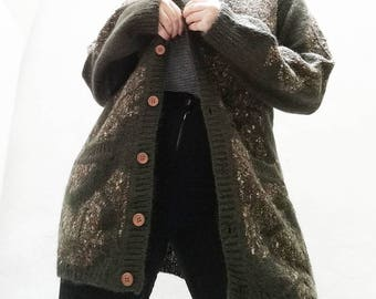 Vintage KNIT jacket//vintage clothing//Vintage jacket//Calamity vintage//knitwear//vintage pattern/trendy/vintage look
