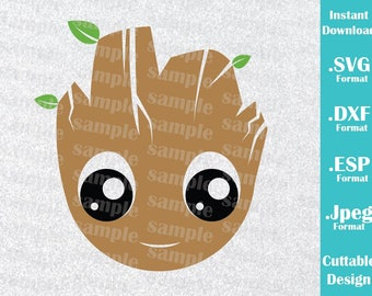 INSTANT DOWNLOAD SVG Groot Inspired Guardians of the Galaxy Cutting Svg, Esp, Dxf, Jpeg Files Cricut and Silhouette Machines