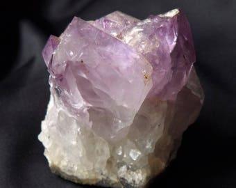 Natural Elestial Amethyst Quartz Crystal Rock Mineral Specimen Reiki Chakra Healing Gemstone
