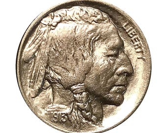 1913 P Buffalo Nickel Type 1 - Gem BU / MS / Unc