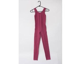 Vintage 1980s/1990s Mauve Sleeveless Unitard / Bodysuit / Dancewear / Leotard / Onepiece