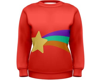 Mabel Star Sweater - Gravity Falls Sweatshirt Cosplay Sweatshirt Mabel Pines Sweatshirt Cartoon Sweatshirt Oddity Apparel Mabel Sweatshirt