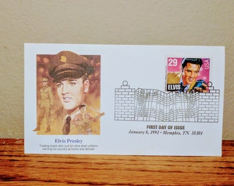 Vintage 1993 Elvis Presley First Day Issue Collectors Stamp 3 Rare