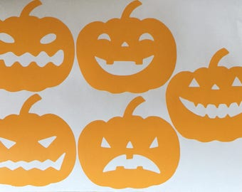 Pumpkin Halloween Jack O Lantern Wall Decal - Kids Wall Sticker Holiday Pattern | PP138