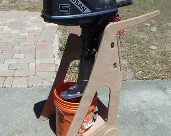 Wooden Outboard Stand