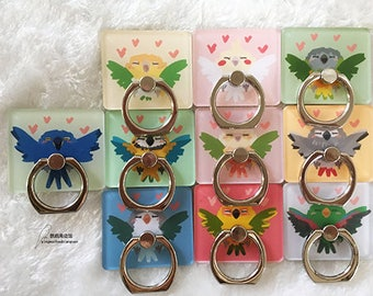 Cute Parrot Design Ring/Phone Stand For Your Personal Electronics