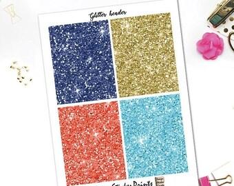 25% OFF SALE Nautical Glitter Header Stickers/Printable Planner Stickers for Erin Condren Lifeplanner/Glitter Headers/Happy Planner header