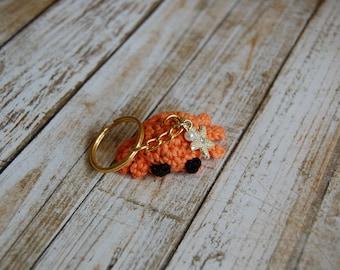Amigurumi Crochet Crab Keychain