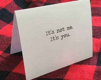 Breakup Card // heartbreak // divorce