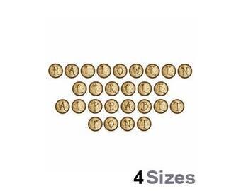 Halloween Circle Alphabet - Machine Embroidery Font