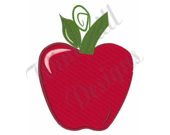 Teachers Apple - Machine Embroidery Design