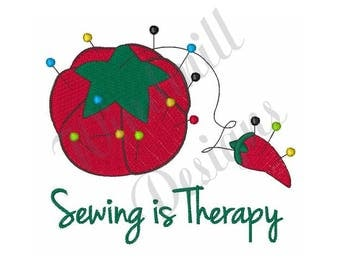Pin Cushion Sewing Therapy - Machine Embroidery Design