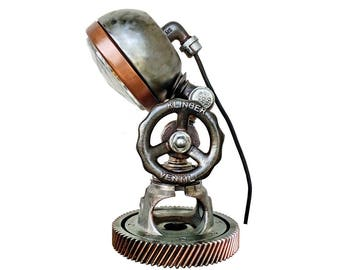 Plumbing pipe light Bedside table reading lamps Industrial lamps Industrial lighting for home Urban vintage lighting Light pipe Steampunk