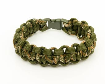 Bracelet Paracord 550 green army/green army camo
