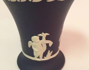 Wedgwood jasperware cobalt bud vase