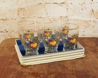 Vintage Set of 6 Clayton Mayers Shot Glasses