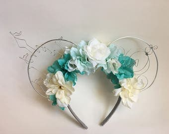Cinderella flower wire Mickey ears