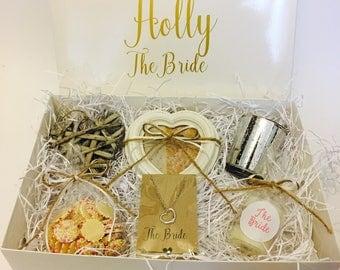 Personalised Bride To Be Gift Box Hamper Wedding
