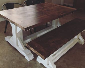Kids Childrens Farmhouse Table Bench // Play Table // Playroom // Dining /