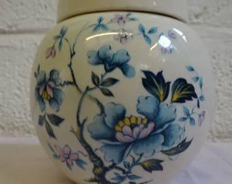 Sadler England Ginger Jar/Tea Caddy/Blue Lotus/Vintage