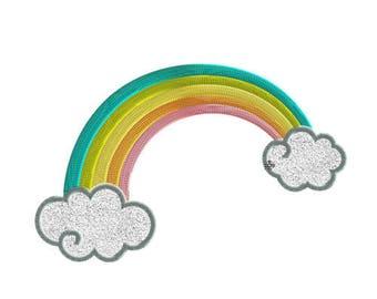 Embroidery design rainbow