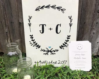 Customized Wedding Sign made from Wedding Invitation
