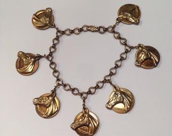 Vintage western jewelry etsy genuine vintage 1940s western horse charm bracelet with 7 pendants cowboy jewelry horse jewelry aloadofball Choice Image