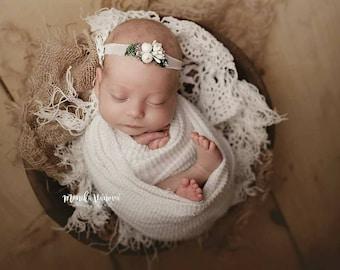 Newborn Wrap, Cotton Wrap, Stretch Wrap, Photograpgyprops, Newborn Layering Fabric, Newborn Photo Prop, Ivory, Baby Wrap, Photo Wrap, Props