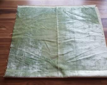 "Vintage Fabric ""Crushed Pale Green Velvet"" Scrap"
