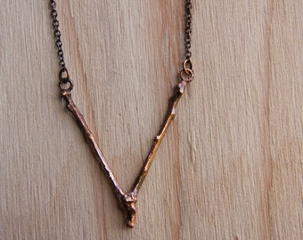 Twig Necklace (V-shaped)