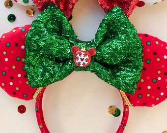Red Polkadot Mouse ears