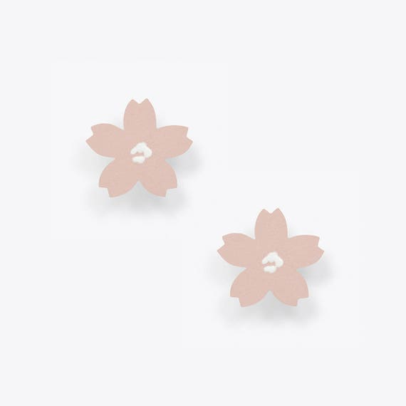 Light Pink Cherry Blossom Stud Earring