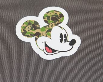 Mickey Mouse X Bape sticker