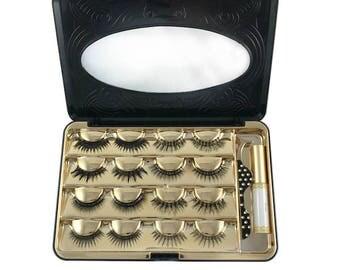 Luxuelash False Eyelash Makeup Cosmetic Storage Organizer Box Travel Lash Case Container